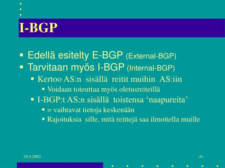 I-BGP