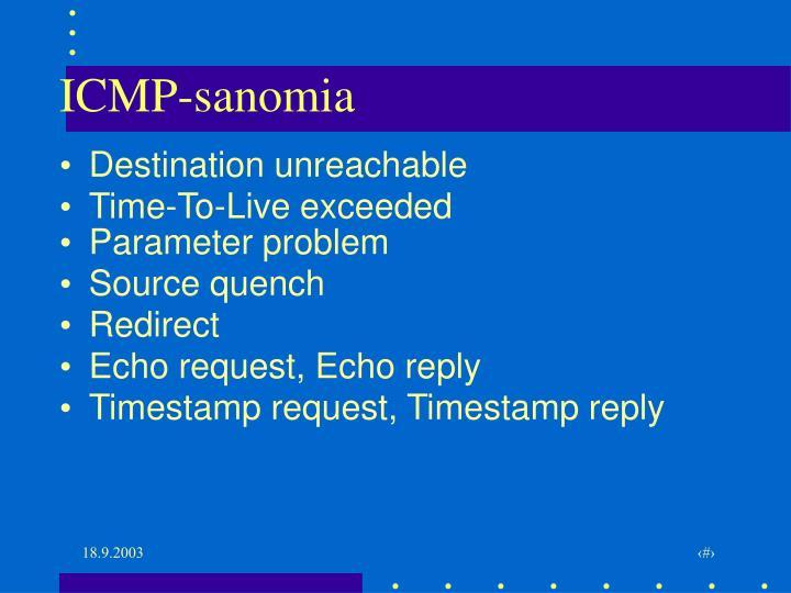 ICMP-sanomia