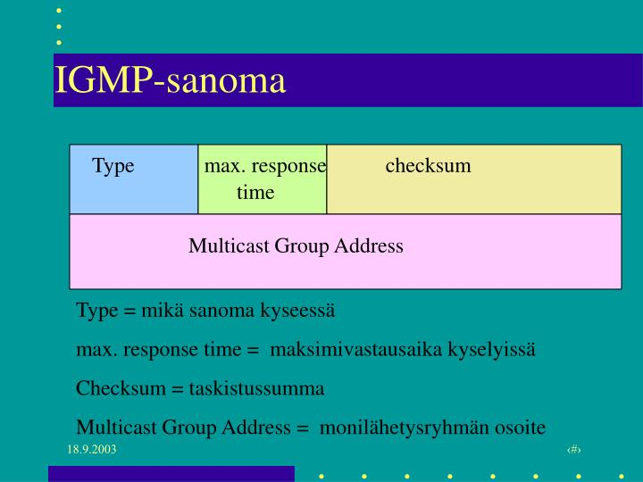 IGMP-sanoma