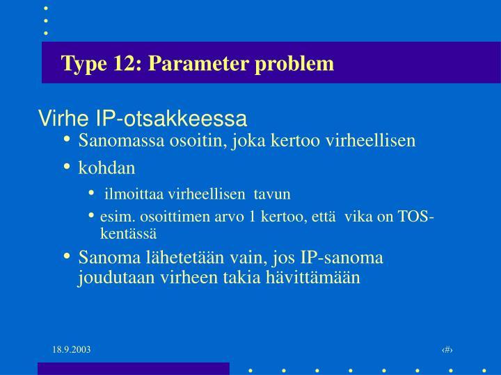 Type 12: Parameter problem