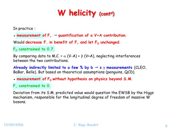 W helicity