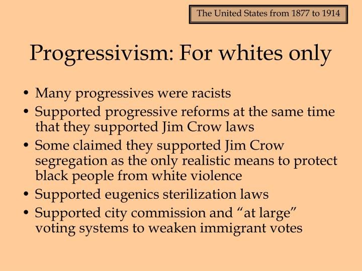 Progressivism for whites only