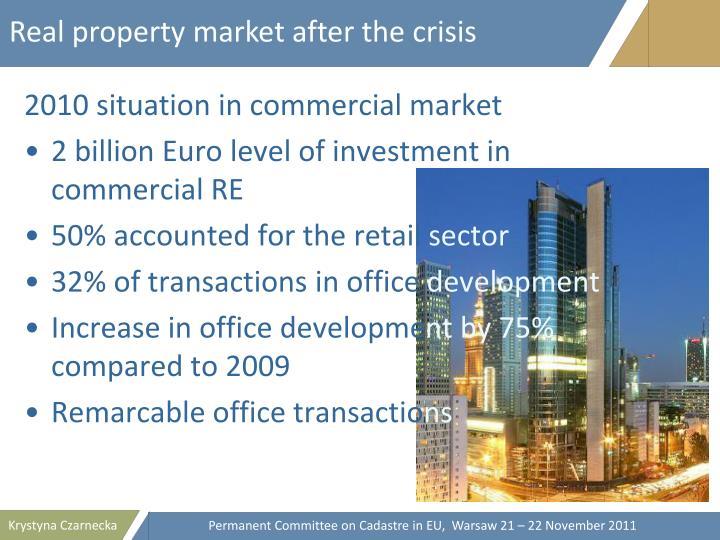 Real property market after the crisis
