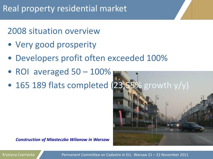 Real property residential market
