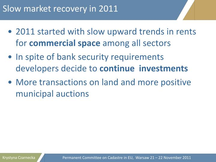 Slow market recovery in 2011