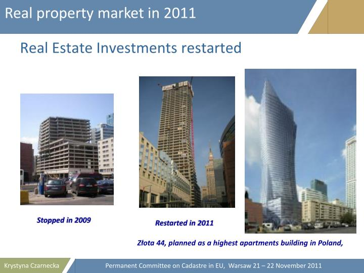 Real property market in 2011