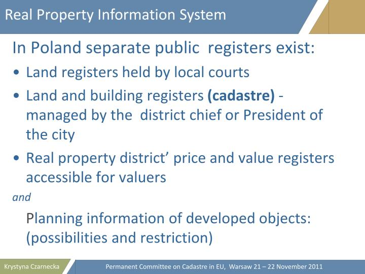 Real Property Information System