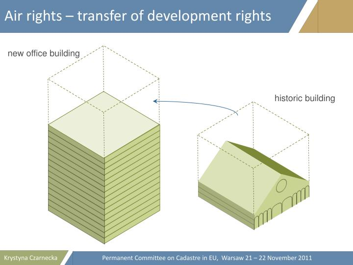 Air rights – transfer of development rights