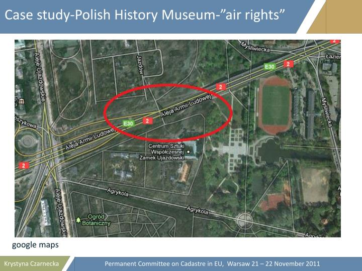 "Case study-Polish History Museum-""air rights"""