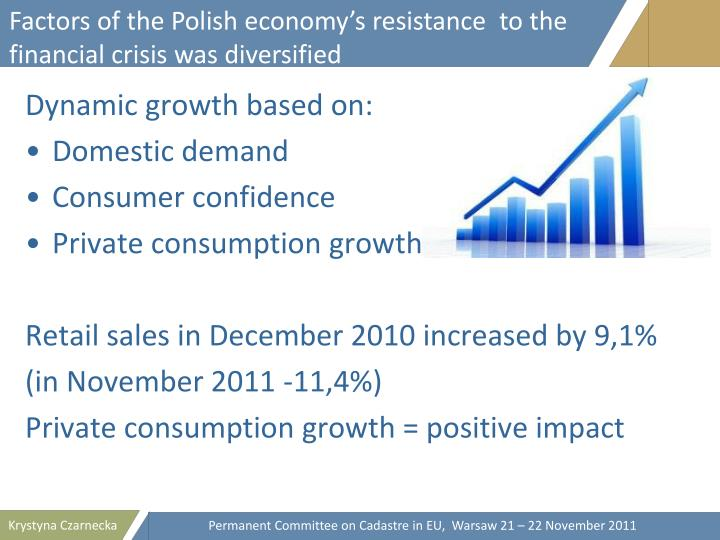 Factors of the Polish economy's resistance  to the financial crisis was diversified