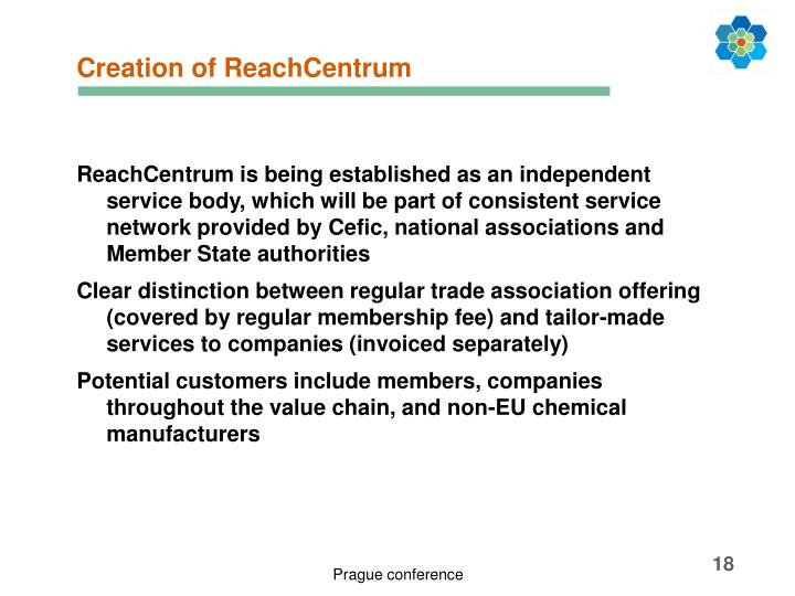 Creation of ReachCentrum