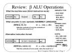 review b alu operations