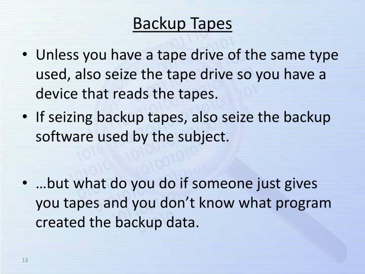 Backup Tapes