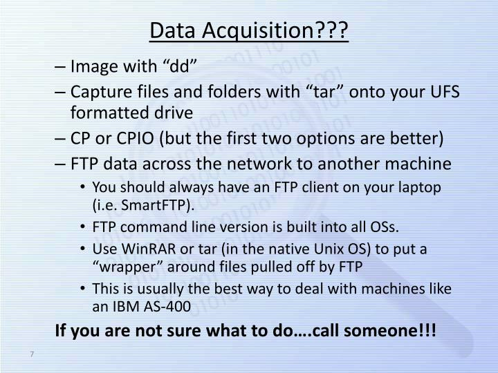 Data Acquisition???