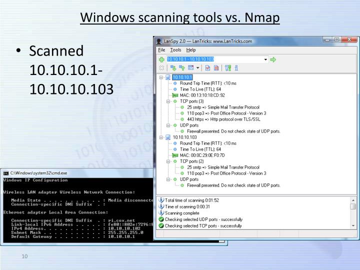 Windows scanning tools vs.
