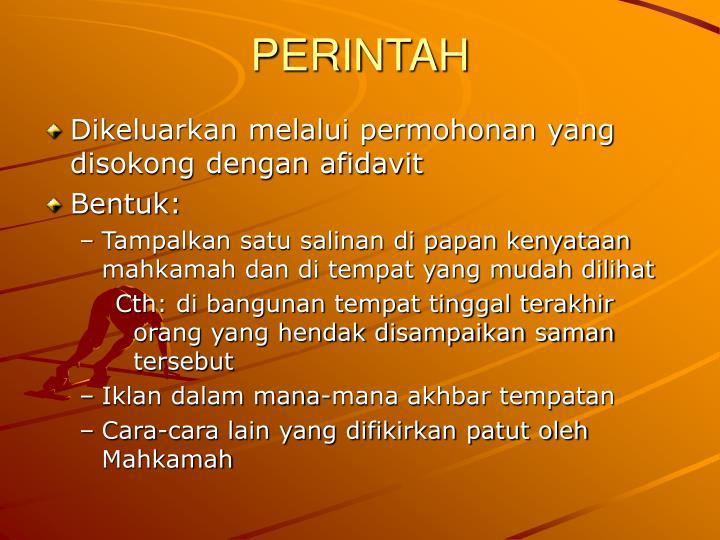 PERINTAH