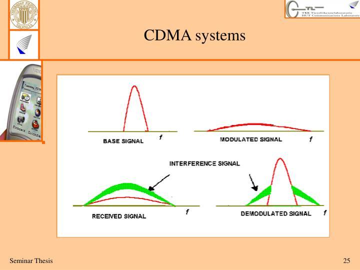 CDMA systems