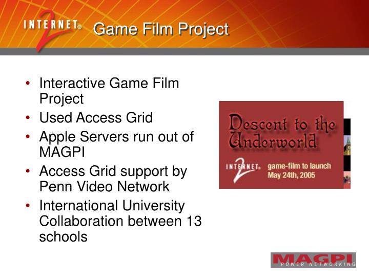 Game Film Project