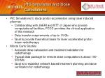 pic simulation and dose calculations