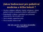 jakou budoucnost pro paliativn medic nu a l bu bolesti