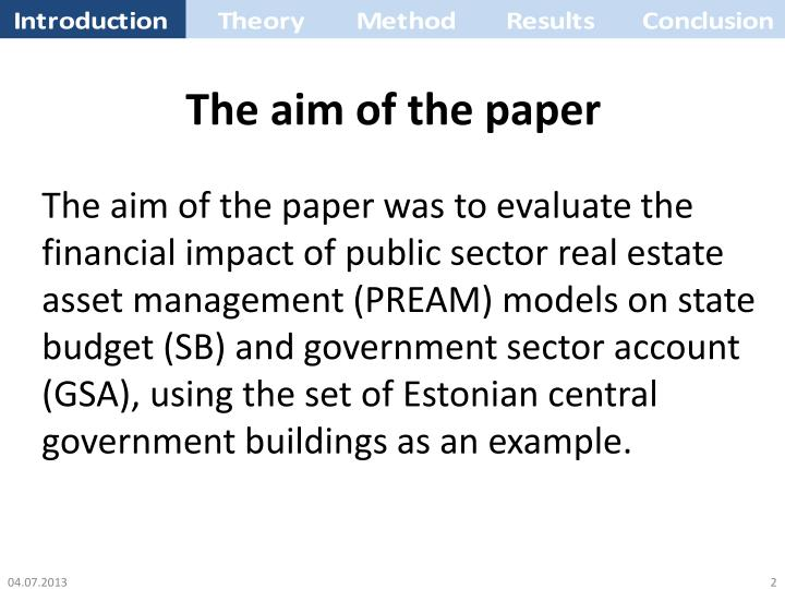 The aim of the paper