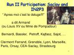 run ii participation saclay and in2p3