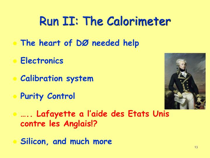 Run II: The Calorimeter