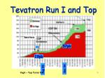 tevatron run i and top