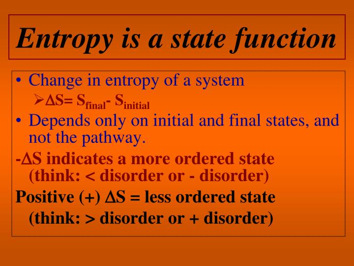 Entropy is a state function