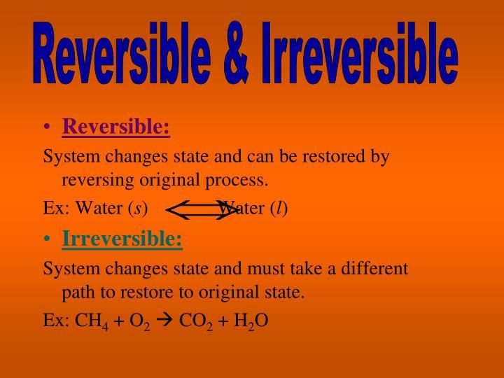 Reversible & Irreversible