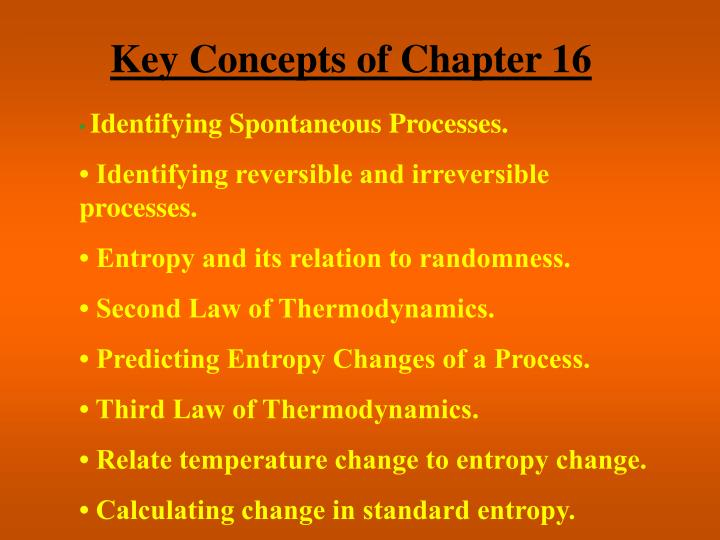 Key Concepts of Chapter 16