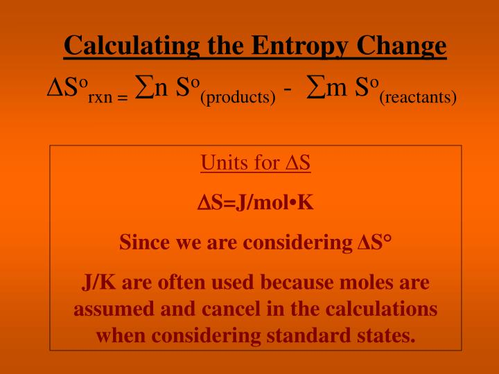 Calculating the Entropy Change
