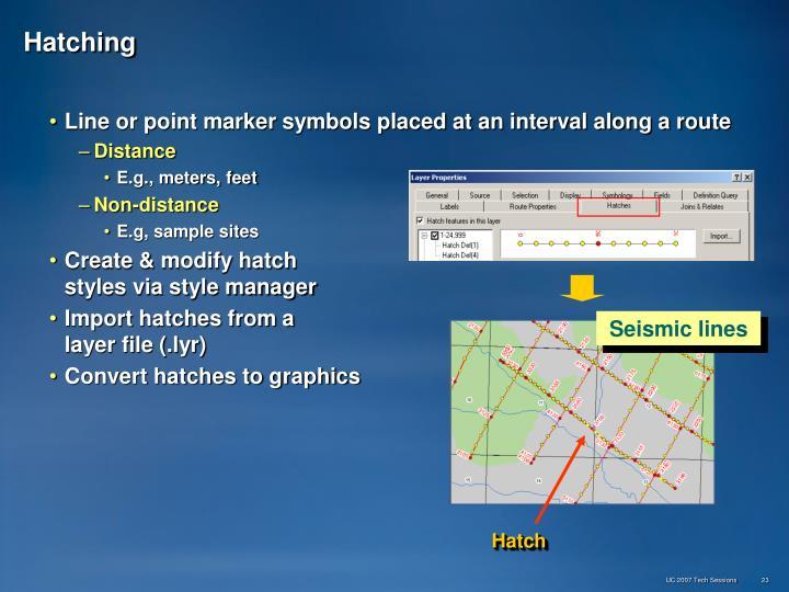 Seismic lines