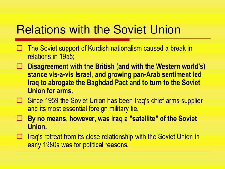 Relations with the Soviet Union