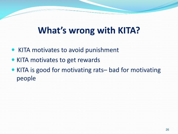 What's wrong with KITA?