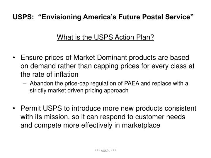 "USPS:  ""Envisioning America's Future Postal Service"""