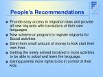 people s recommendations