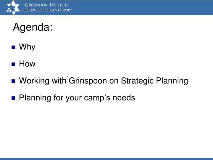 Agenda: