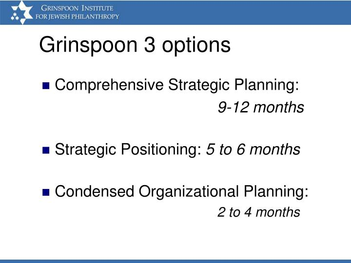 Grinspoon 3 options