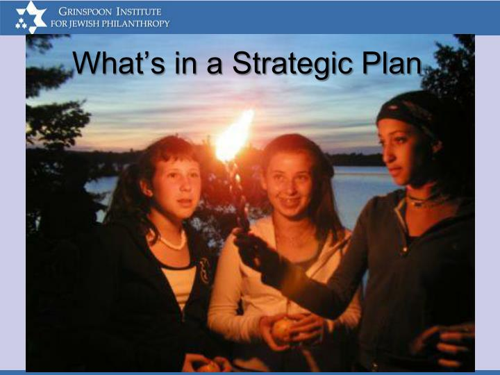 What's in a Strategic Plan