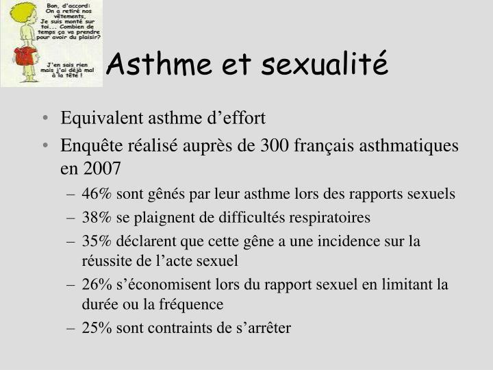Asthme et sexualité