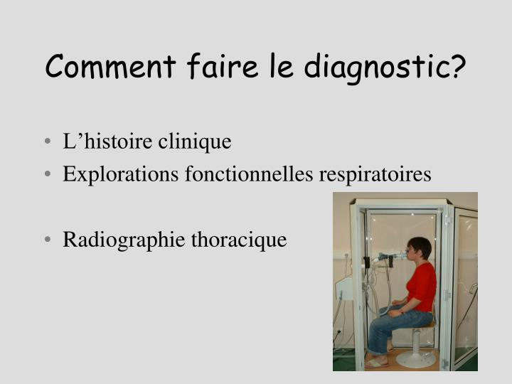 Comment faire le diagnostic?