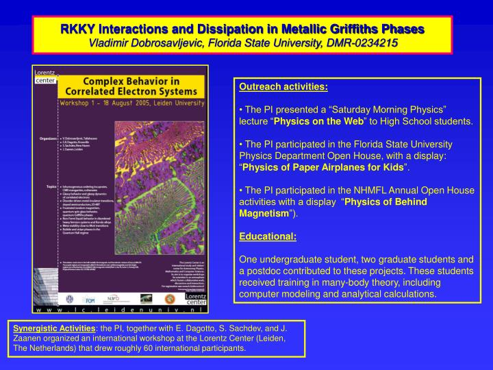 RKKY Interactions and Dissipation in Metallic Griffiths Phases