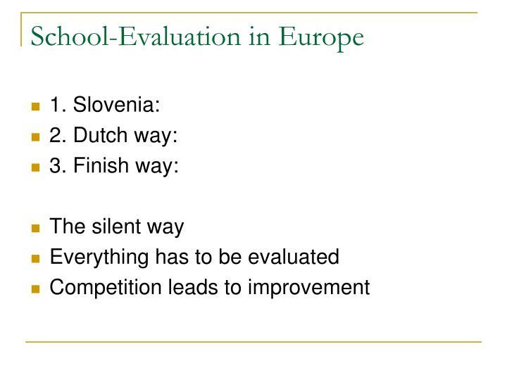 School-Evaluation in Europe