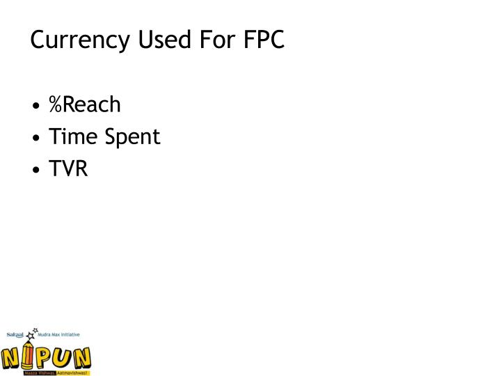 Currency Used For FPC