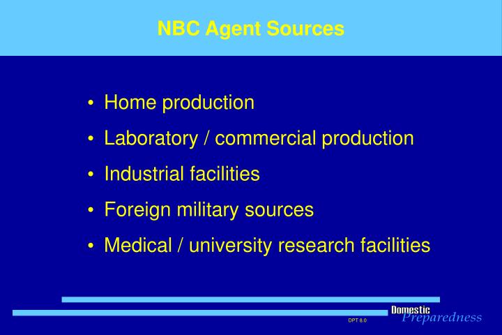NBC Agent Sources