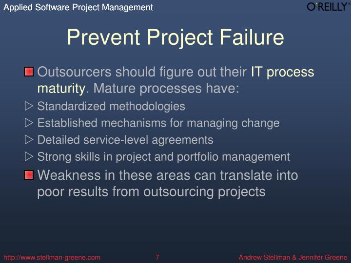 Prevent Project Failure