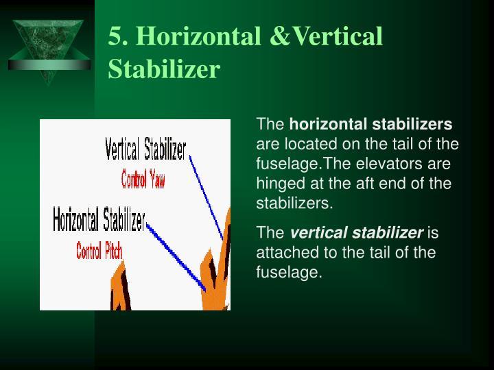 5. Horizontal &Vertical Stabilizer