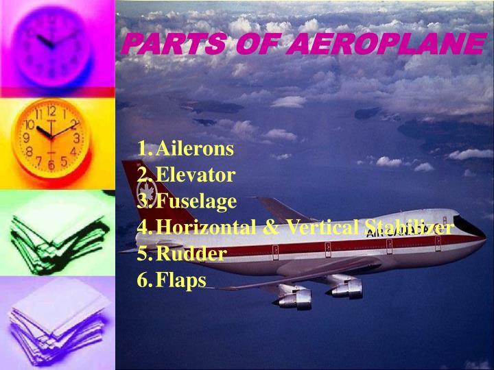 PARTS OF AEROPLANE