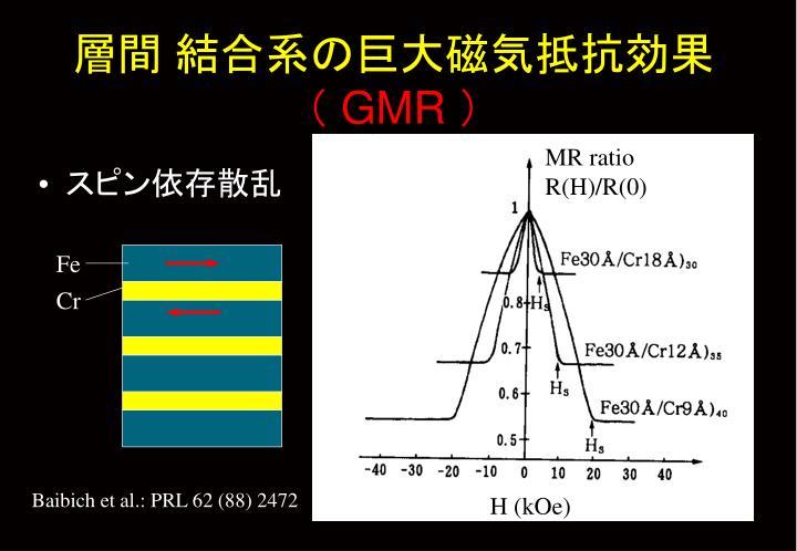 層間 結合系の巨大磁気抵抗効果